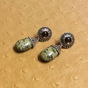 😍925 Silver Green Jasper Earrings😍NWOT